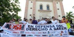 Marchan contra Ley Mordaza en Sinaloa