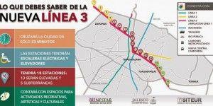 Inicia la construcción de la Línea 3 del Tren Ligero en Jalisco