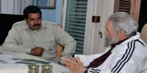 Castro recibió a Maduro