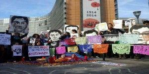 Manifestación en la Unión Europea por caso Ayotzinapa