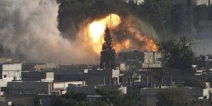 Coalición ataca yihadistas en Kobane