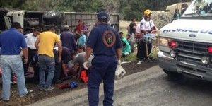 Accidente en Morelos deja 4 muertos y 38 heridos