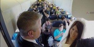 Se casan durante vuelo de Southwest