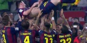 Messi supera el récord de Zarra