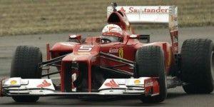 Vettel prueba por primera vez su Ferrari