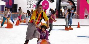 Abren pistas de hielo en el Zócalo