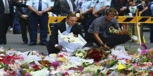 Primer ministro australiano deja flores a las víctimas
