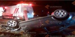 Una mujer herida por volcadura en Querétaro
