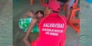 Vacacionista es picado por mantarraya en Acapulco
