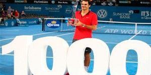 Roger Federer llega a las mil victorias