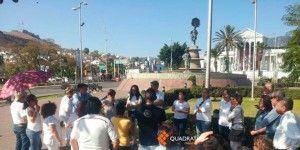 Protestan contra marchas y bloqueos en Oaxaca