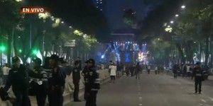 Inicia fiesta de Año Nuevo en Paseo de la Reforma