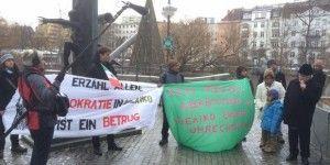 Se manifiestan en Berlín contra convenio de seguridad con México