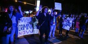 Protestan en Washington por muerte de mexicano