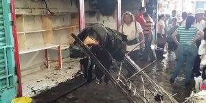 Arde mercado de Puente del Dragón en Cuernavaca