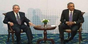 Histórica reunión entre los mandatarios de Cuba y EE.UU.
