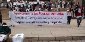 Marchan por la paz en Jalisco y México