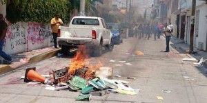 Vandalizan edificio de la Secretaría de Educación de Guerrero