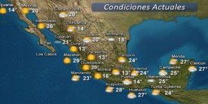 Pronóstico del tiempo para este sábado