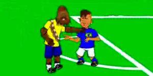 Video: animación parodia pleito entre Neymar y Bacca