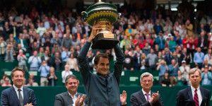 Federer gana su octavo Abierto de Halle