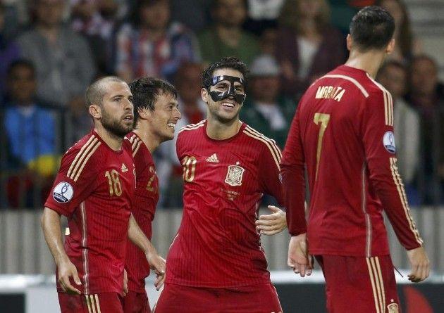 Silva le dio el triunfo a España. Foto de Reuters