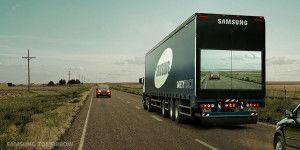Un tráiler con pantalla podría hacer más segura la carretera