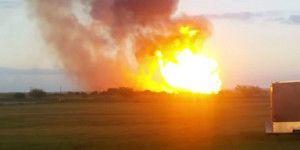 Un gasoducto genera un incendio masivo en Texas