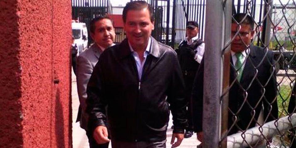 Reynoso Femat salió del CERESO de Aguascalientes. Foto de Twitter