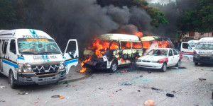 Incendian  vehículos en Chilpancingo