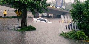 Interlomas inundado por las lluvias