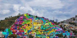 Artistas callejeros decoran 209 casas en Pachuca