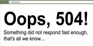 El Wall Street Journal también presentó problemas técnicos