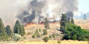 Caída de avioneta provoca incendio, hay dos muertos