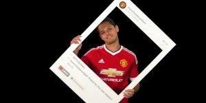 Chicharito aparece con la nueva playera del Manchester United