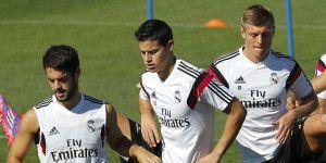 Golazo en entrenamiento del Real Madrid