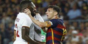 Video: Messi golpea a rival