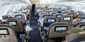 Los lugares más sucios en un avión
