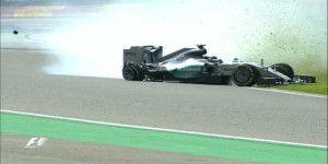 Nico Rosberg sufre accidente en entrenamiento