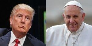 El papa Francisco vs Donald Trump