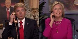 Bromea Hillary Clinton sobre cabello de Donald Trump