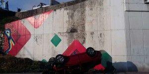 Tres jóvenes lesionados tras volcadura en Tepic