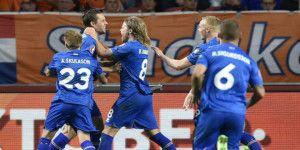 Islandia derrota por primera vez a Holanda