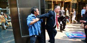 Guardia de seguridad de Trump golpea a mexicano