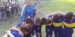 Video: niño motiva a representativo de Boca Juniors