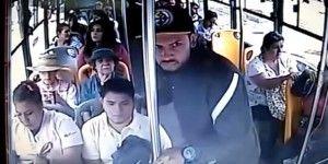 Video: ladrón asalta autobús en Guadalajara