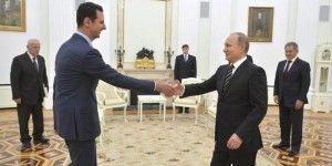Assad y Putin se reúnen por bombardeos en Siria