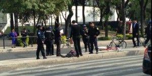Otro accidente de usuario de Ecobici en Reforma