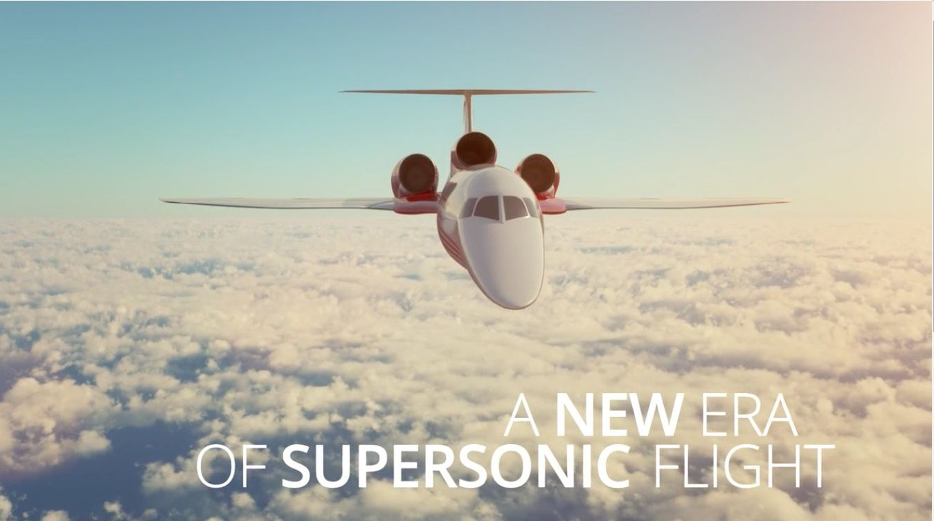 """Aerion promete que sería """"una nueva era de los vuelos supersónicos""""."""