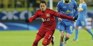 Chicharito se queda sin marcar en empate del Leverkusen